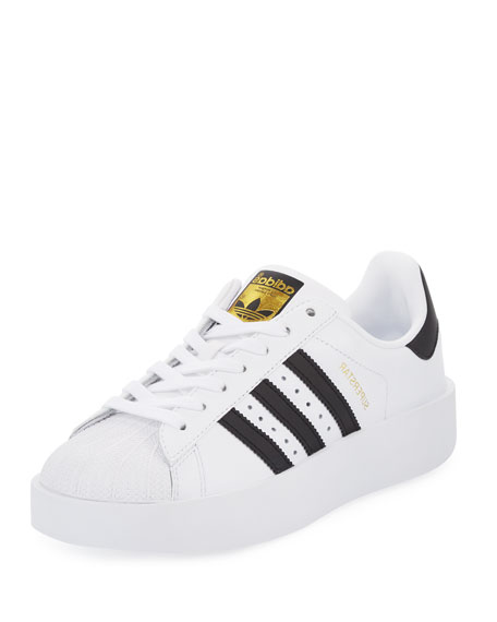 Adidas Superstar Bold Two-Tone Sneaker, White