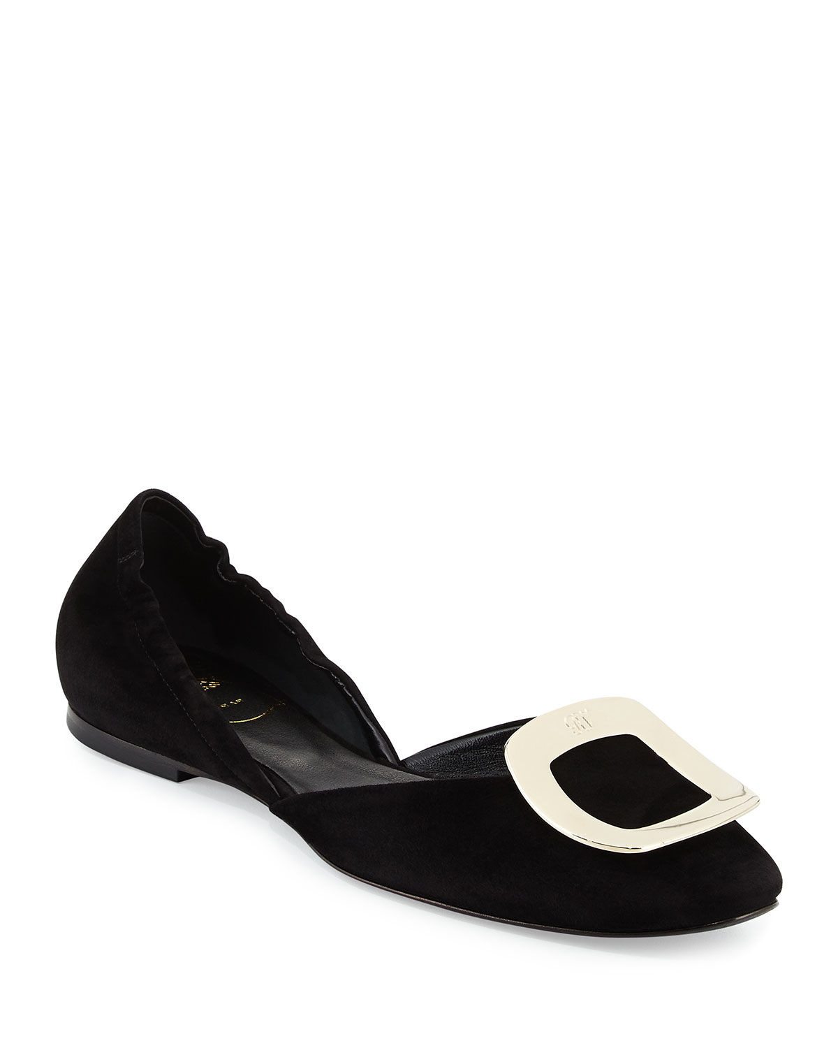 Roger Vivier Ballerine Chips Suede d Orsay Flat  57fa54a2e5bf8
