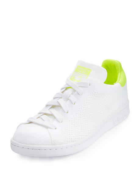 Adidas Stan Smith Primeknit Sneaker, White/Lime