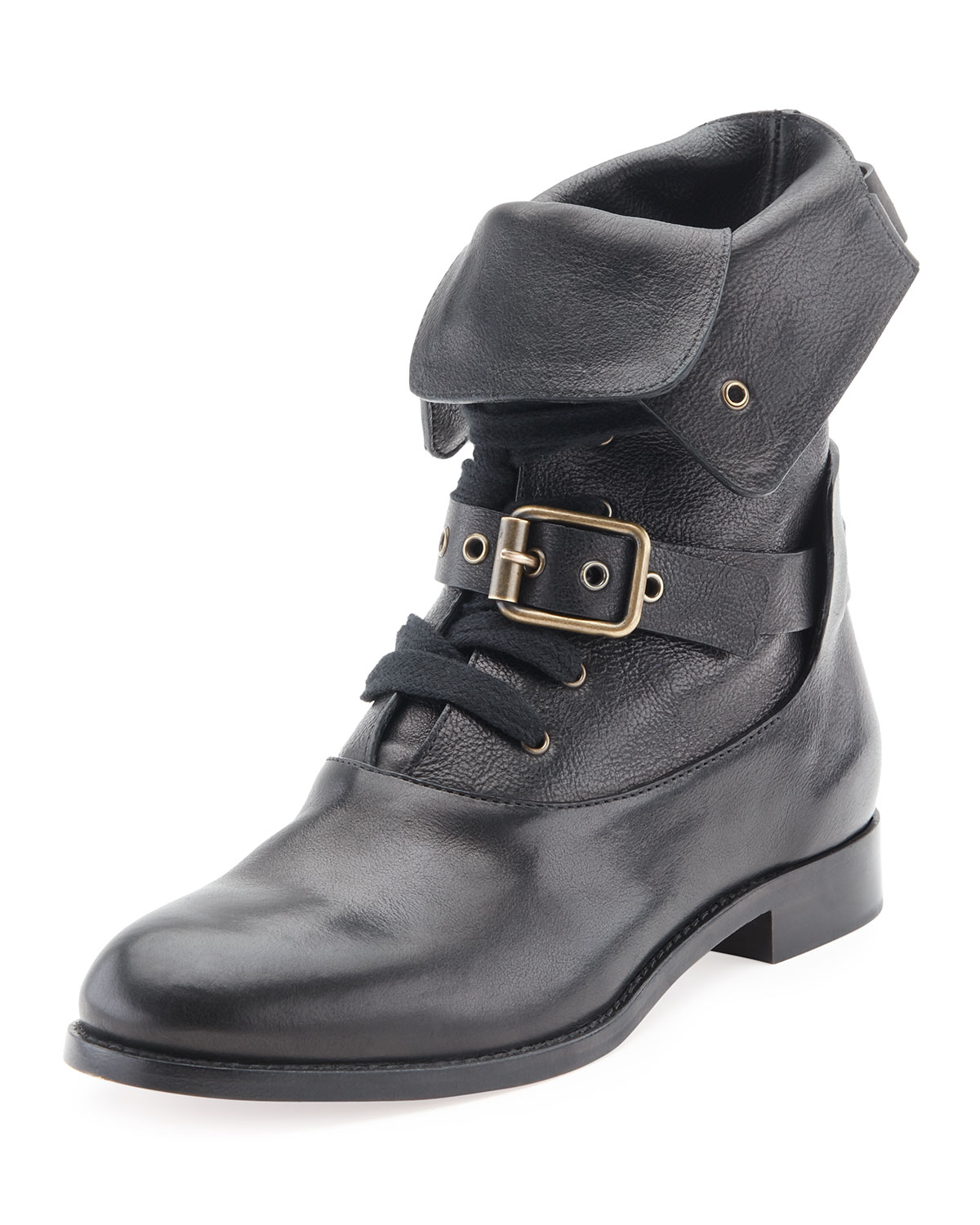 c151e0c4 Otto Lace-Up Buckle Ankle Boot, Black