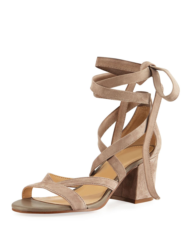 00690a147b5f Sam Edelman Sheri Suede Ankle-Wrap Sandal