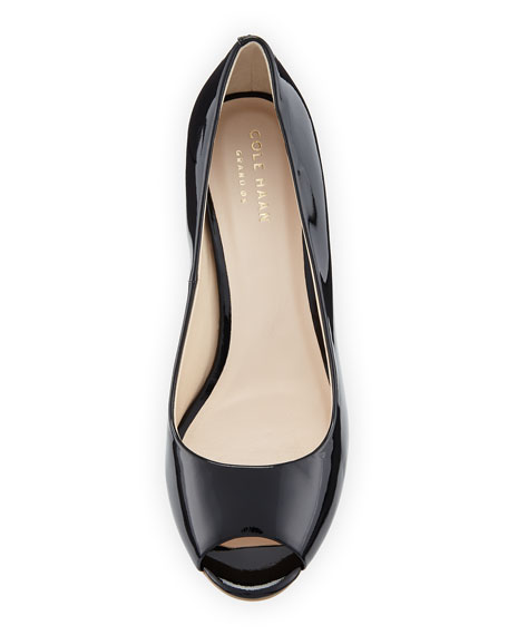 Cole Haan Sadie Grand Patent Leather Wedge Pump, Black