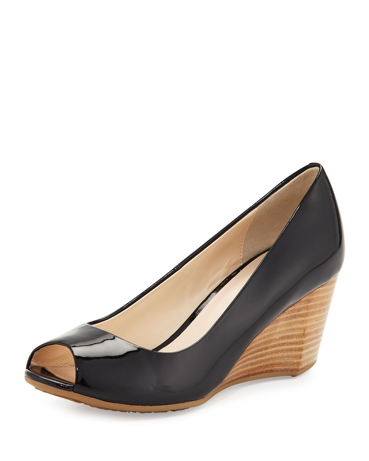 e91924a640 Cole Haan Sadie Grand Patent Leather Wedge Pump, Black | Neiman Marcus