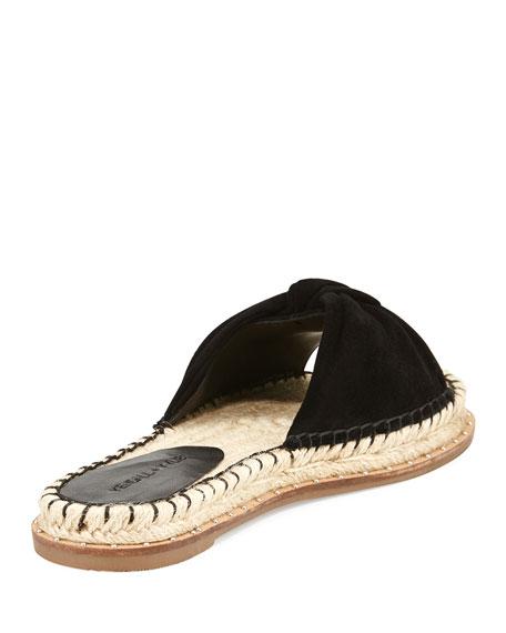 Vira Knot-Top Flat Espadrille Sandal