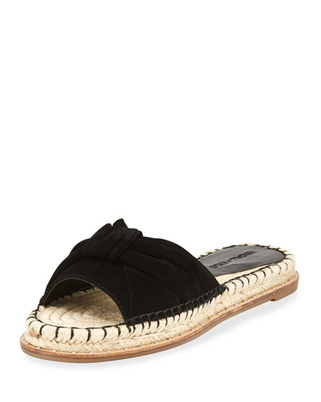 Kendall + Kylie Vira Knot-Top Flat Espadrille Sandal