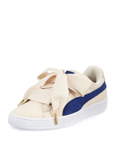Basket Heart Platform Sneaker, Oatmeal/Twilight