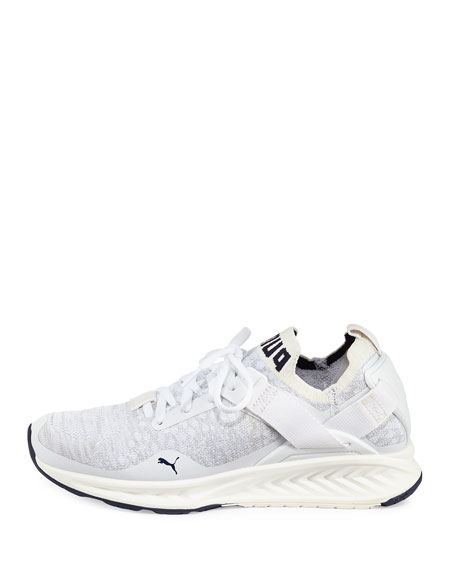 Ignite Knit Lace-Up Sneaker, White