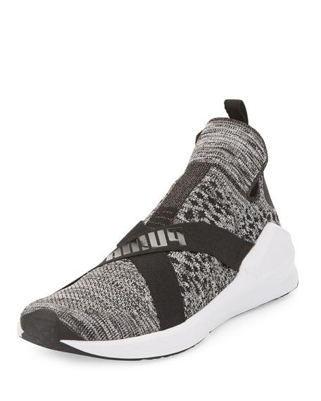 Fierce Knit Pull-On Sneakers, Black