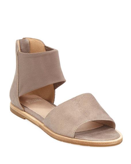 Eileen Fisher Sign Two-Piece Open-Toe Flat Sandal