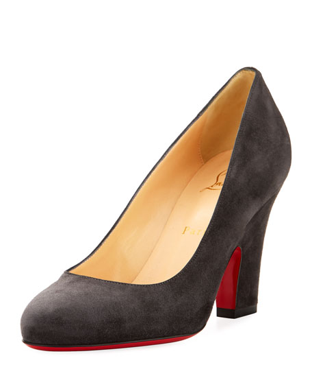 Christian Louboutin Akdooch Suede Red Sole 85mm Pump