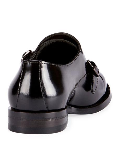 Dare Eli Patent Leather Monk-Strap Loafer, Black