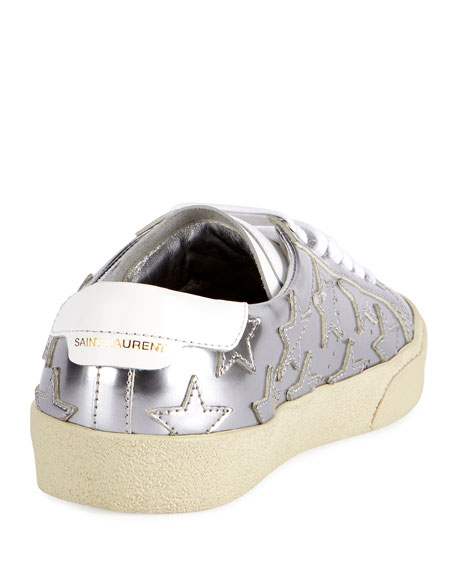 Court Classic Star Low-Top Sneakers, Silver