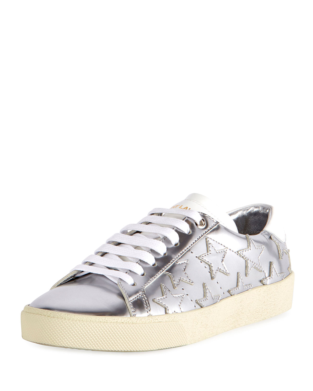 0760ddc83adf1 Saint Laurent Court Classic Star Low-Top Sneakers