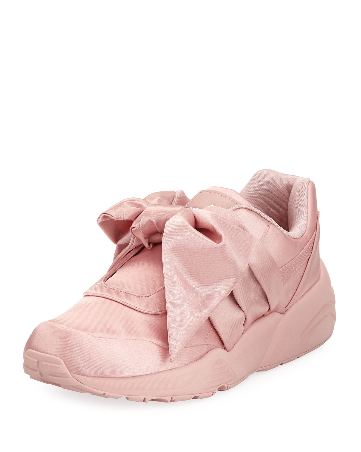 6d17b2bb8308 Fenty Puma by Rihanna Trinomic Knotted Bow Satin Sneakers ...