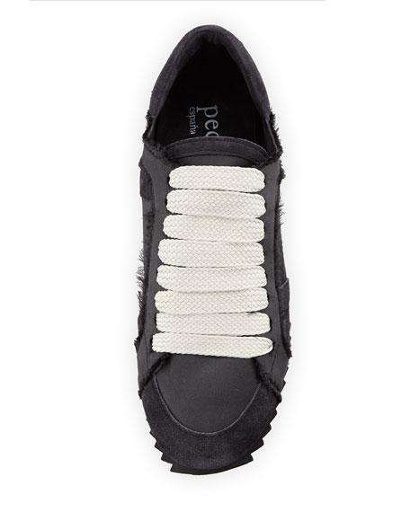 Cristina Satin Lace-Up Trainer Sneaker