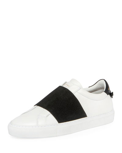 Urban Knots Elastic Slip-On Sneaker, White/Black