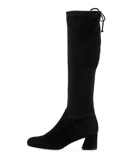 Terra Knee-High Suede Boot, Black