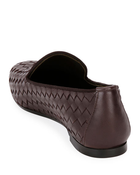 Woven Leather Smoking Slipper