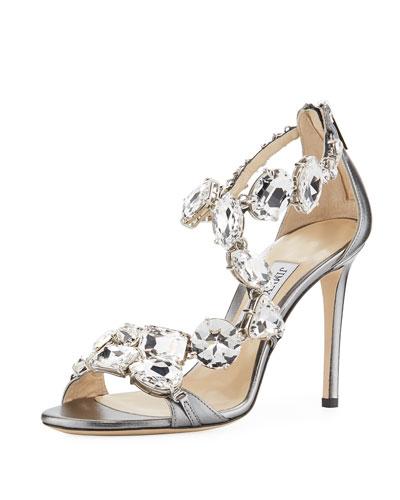 80ac64a8ad8a Karima Crystal 100mm Sandals Gray