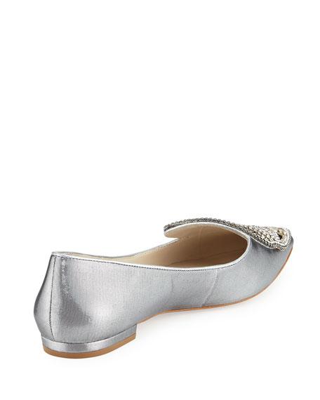 Bibi Butterfly Crystal Flat, Silver