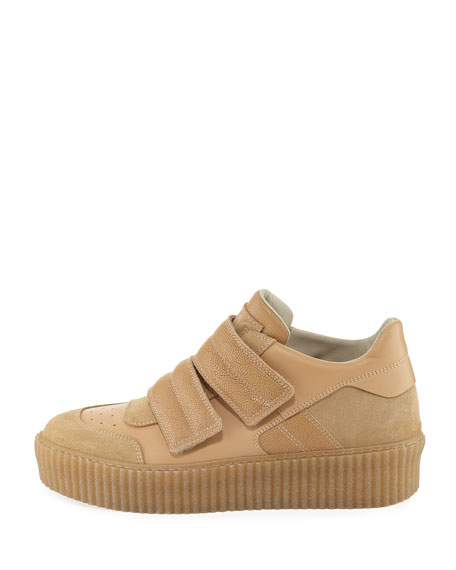 Banded Leather Low-Top Sneakers