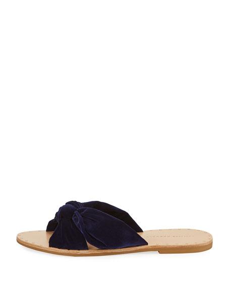 Lucia Knotted Flat Slide Sandal