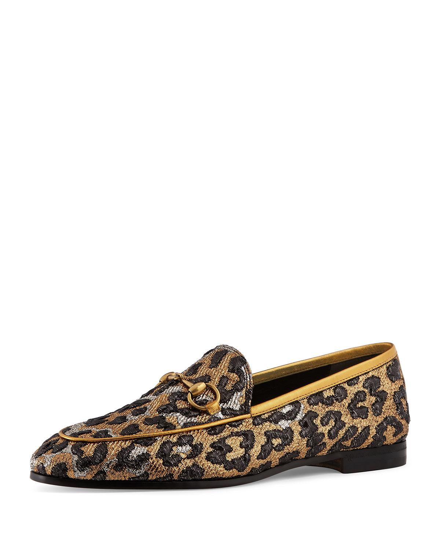 72262d4c8d4 Gucci 10mm New Jordaan Lurex Leo Loafer
