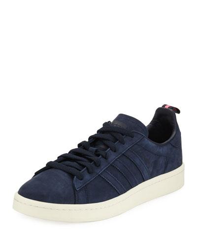 Campus Suede 3-Stripe Sneaker, Dark Blue