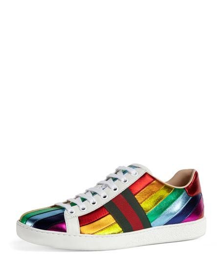 New Ace Metallic Striped Sneaker, Multi