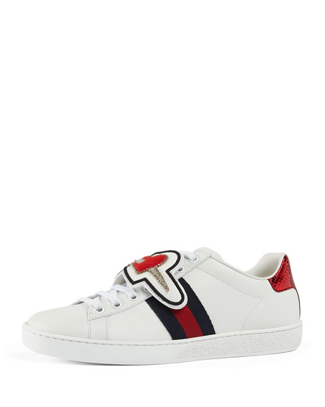 Gucci New Ace Number 25 Sneaker, White