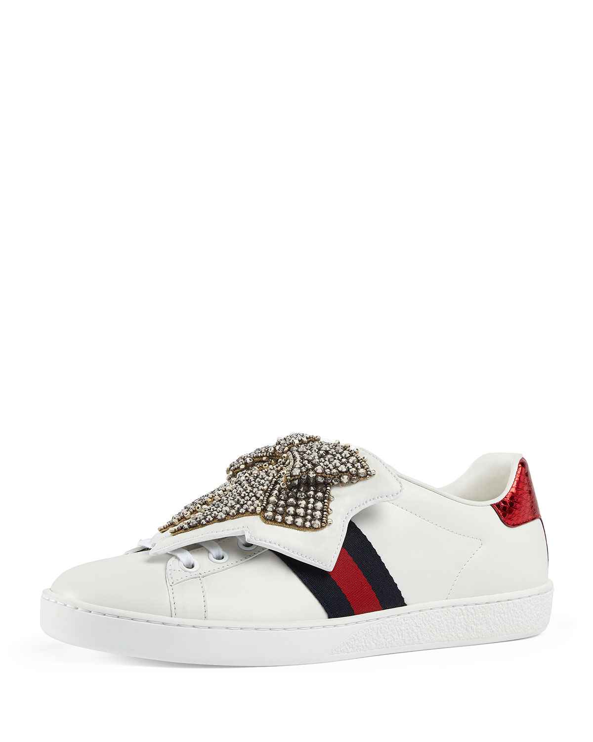 ad674a8b6eac Gucci New Ace Bow Lace Patch Sneaker