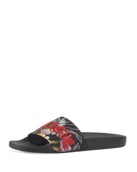 Gucci Pursuit Blind For Love Slide Sandal