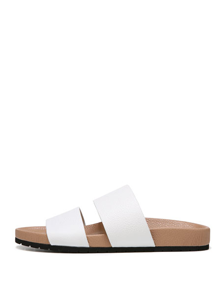 Georgie Leather Flat Slide Sandal