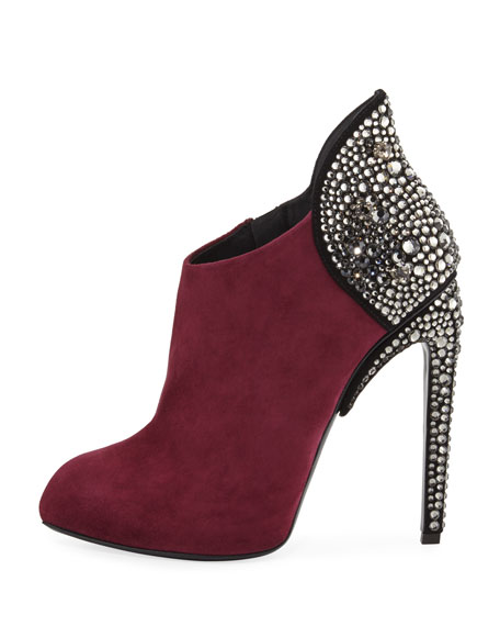 Bimba Suede and Crystal 110mm Bootie