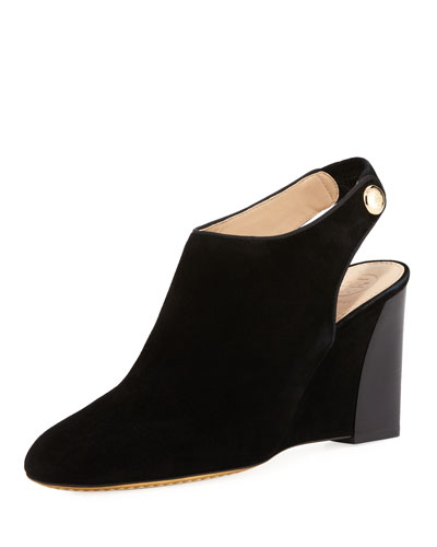 Marisa Suede 85mm Wedge Bootie