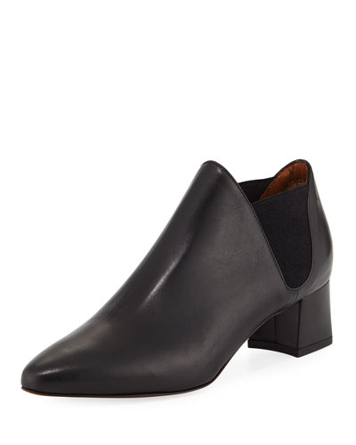 Poppy Suede Ankle Boot, Black