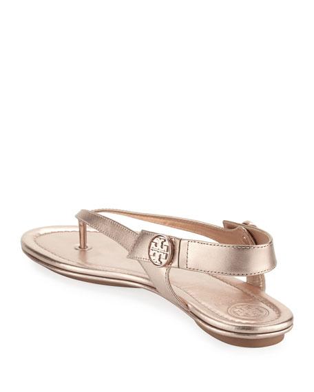 Minnie Metallic Flat Travel Sandal