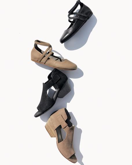 Iris Cutout Leather Sandal
