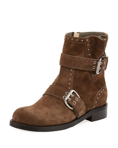 Jimmy Choo Blyss Studded Suede Boot