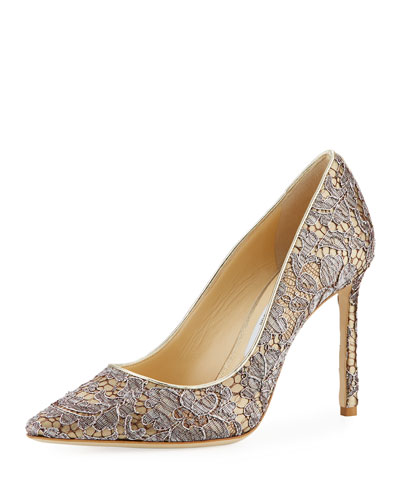 Romy Metallic Lace 100mm Pump