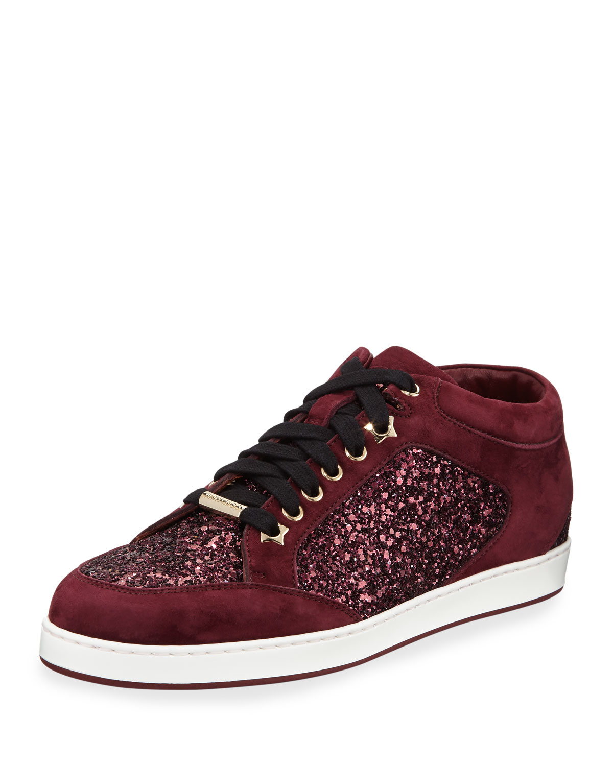 02f69cfa21 Jimmy Choo Miami Glitter Low-Top Sneaker | Neiman Marcus