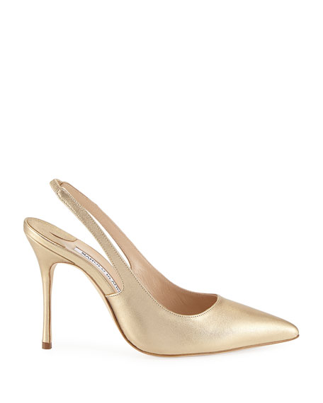 Allura Metallic Leather Slingback Pumps