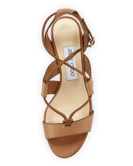 Jimmy Choo Margo Leather Crisscross 40mm Sandals