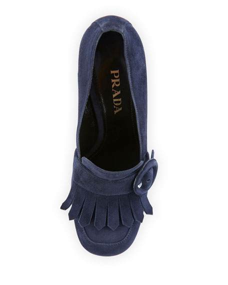 Suede Fringe 110mm Loafer