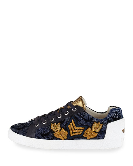 Nak Arms Embroidered Sneaker, Midnight