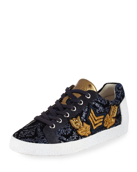 Ash Nak Arms Embroidered Sneaker, Midnight