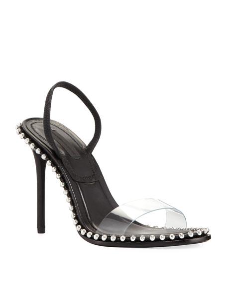 Alexander Wang Nova Leather & PVC Sandals hrMSlyJ