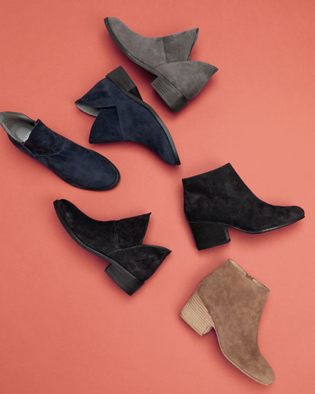 Eileen Fisher Leaf Slip-On Suede Bootie