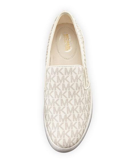 Keaton Logo-Print Slip-On Sneaker