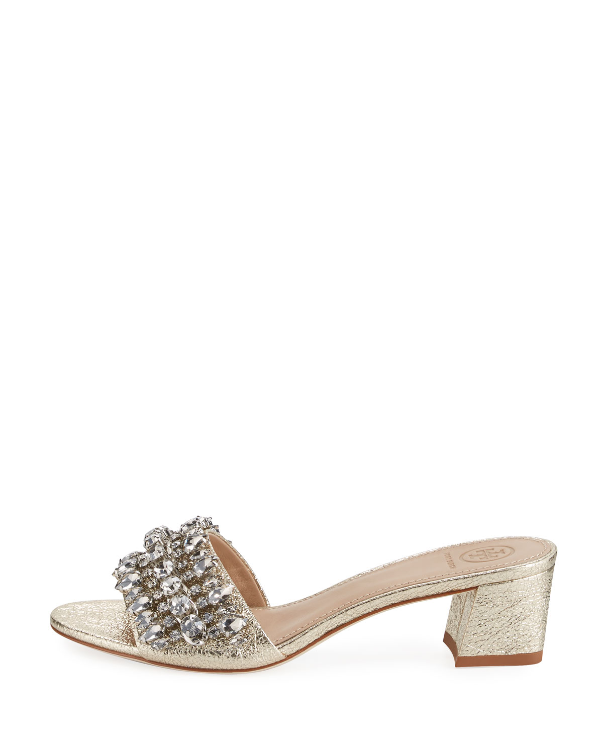 Tory Burch Beverly Metallic Embellished Slide Sandal qyw9A